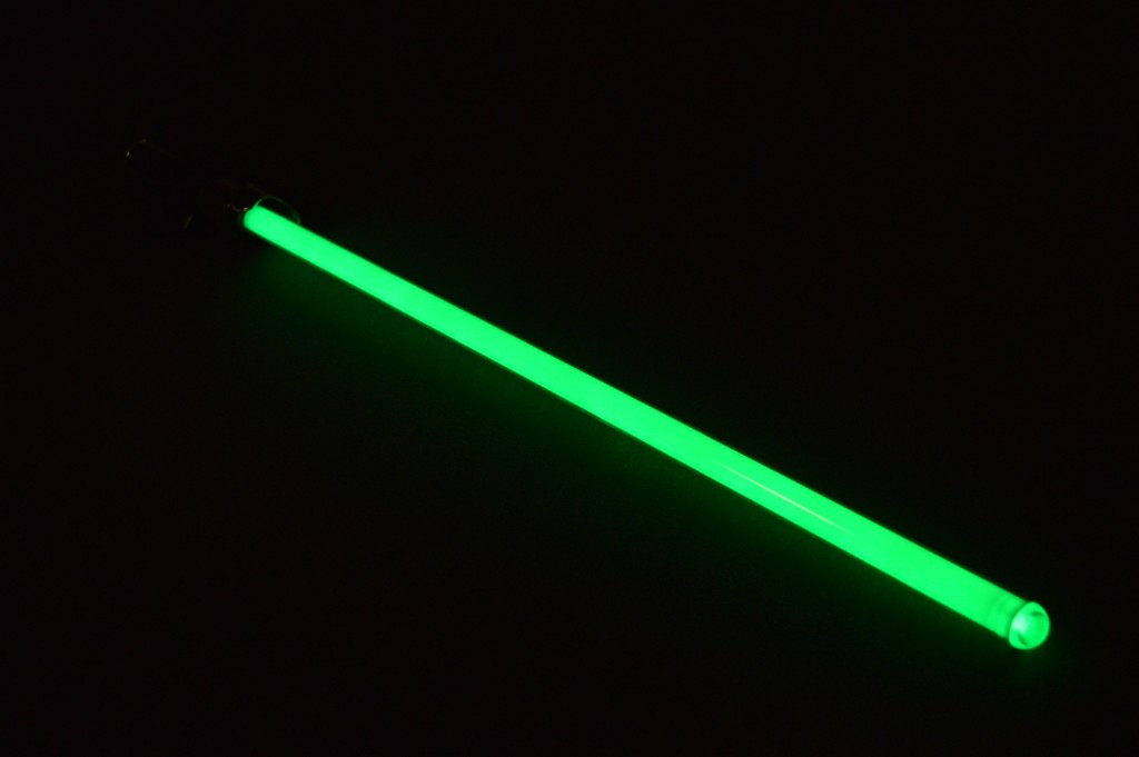 Another realistic look at the saber's blade.