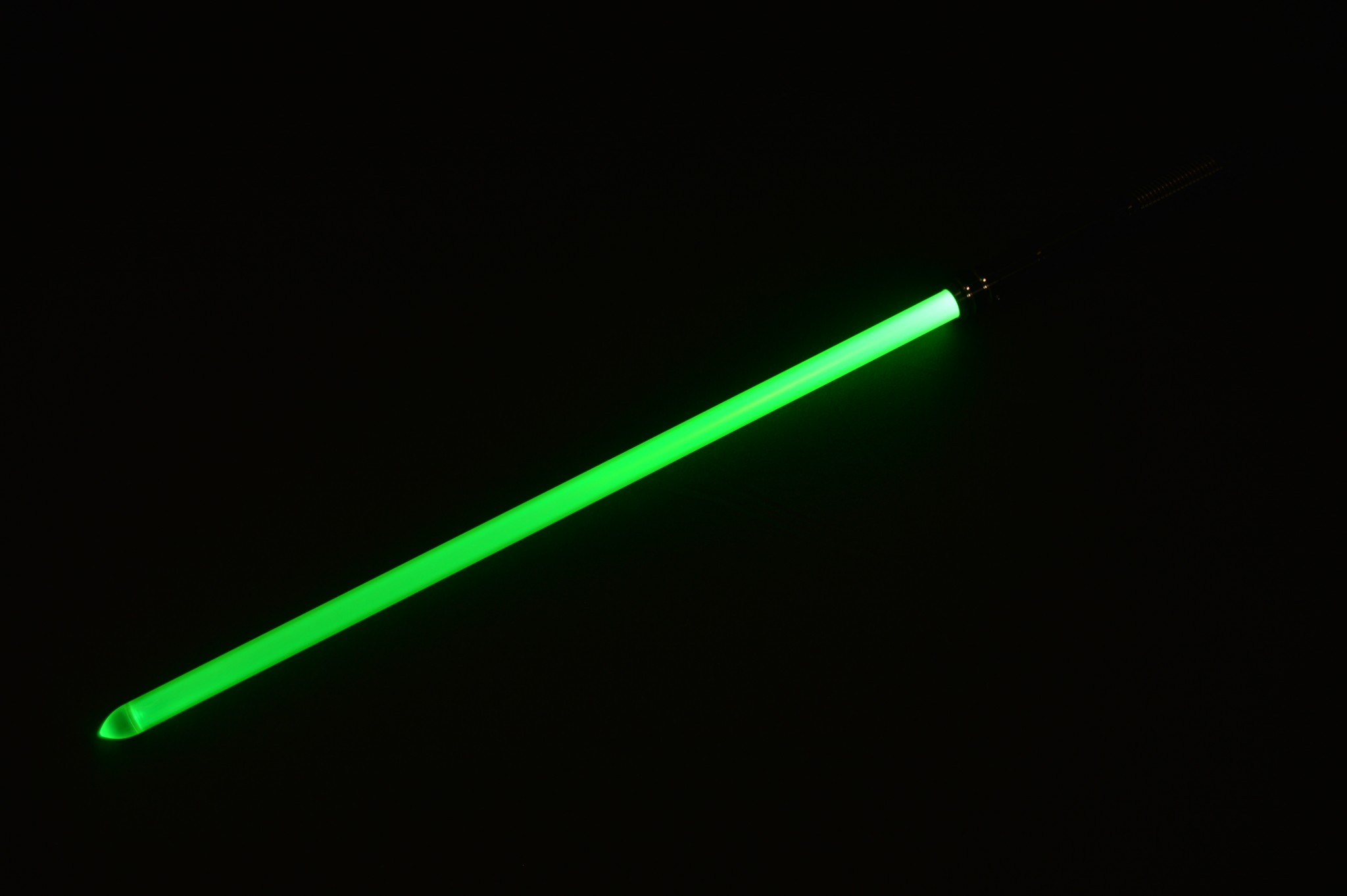 Here is the Photon Blade on a green LED saber. It still looks pretty darn good here.
